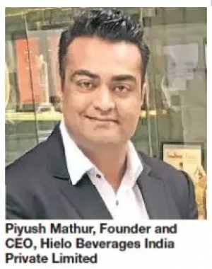 Piyush Mathur, Founder of PEAUR- Flagship brand of Hielo Beverages India