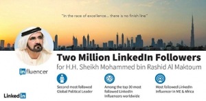 Two Million LinkedIn Followers for His Highness Sheikh Mohammed bin Rashid Al Maktoum